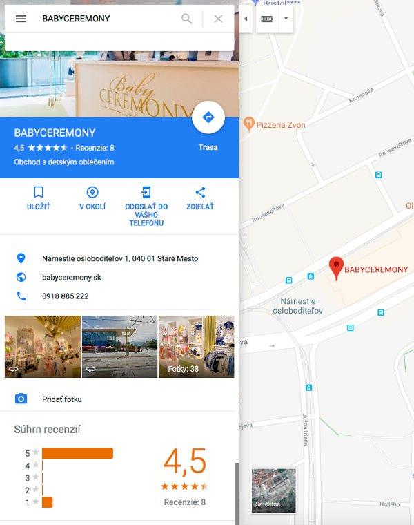 Google mapy profil